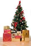 Christmas tree at home Stock Photos