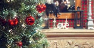 Christmas tree at home Royalty Free Stock Photo