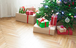 Christmas  tree at home Royalty Free Stock Image