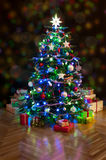 Christmas  tree at home Royalty Free Stock Photos