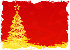 Christmas tree, horizontal, red Stock Photos