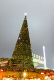 Christmas tree in the Hyde Park`s winter WonderLand, London Stock Photography