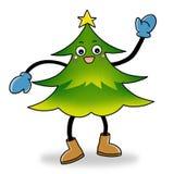 Christmas tree icon. Cartoon action icon of Mr. Christmas tree Royalty Free Stock Photo