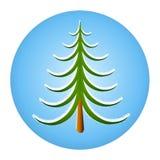 Christmas Tree Icon Royalty Free Stock Photo
