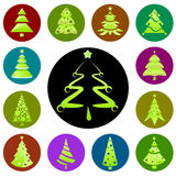 Christmas tree icon Royalty Free Stock Photos
