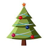 Christmas tree icon, cartoon style Royalty Free Stock Photography