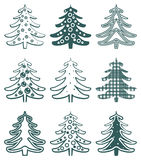 Christmas tree icon. Stock Image