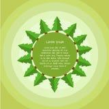 Christmas tree icon. Flat design style modern  illustration. Isolated on stylish color background Stock Image