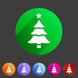 Christmas tree icon flat web sign symbol logo label Stock Photography