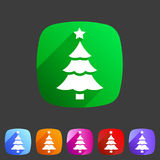 Christmas tree icon flat web sign symbol logo label Royalty Free Stock Photo