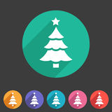 Christmas tree icon flat web sign symbol logo label Stock Photo