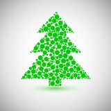 Christmas tree icon made of circles Stock Image
