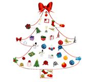 Christmas tree icon set Royalty Free Stock Photography