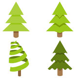 Christmas Tree Icon Set Royalty Free Stock Photos