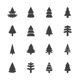 Christmas tree icon set, vector eps10 Stock Photo