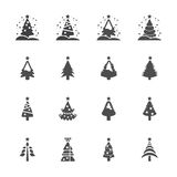 Christmas tree icon set 3, vector eps10 Stock Photos