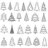 Christmas tree icon set Stock Photo