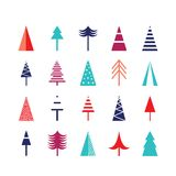 Christmas tree icon set for web Stock Photography