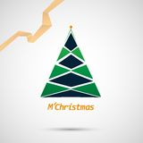 Christmas tree icon on a simple background Stock Photos