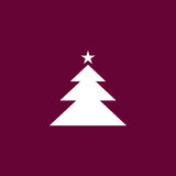 Christmas tree icon simple illustration Royalty Free Stock Image