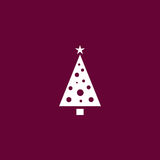 Christmas tree icon simple illustration Royalty Free Stock Photo