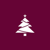 Christmas tree icon simple illustration Stock Photography