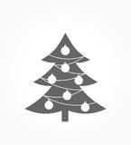 Christmas tree icon Stock Photo