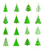 Christmas tree icons flat Royalty Free Stock Photo