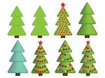 Christmas tree icons Royalty Free Stock Photography