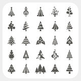 Christmas tree icons set. Abstract Christmas tree icons set Stock Photos