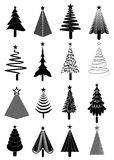 Christmas tree icons set Royalty Free Stock Photos