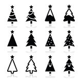 Christmas tree  icons set Royalty Free Stock Image
