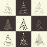 Christmas tree icons Stock Photo