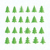 Christmas Tree Icons Set. Vector Illustration. Christmas Tree Icons Set. Vector Illustration Stock Photos