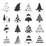 Christmas tree icons Royalty Free Stock Images