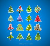 Christmas tree icons vector design Stock Photography