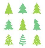 Christmas tree icons Royalty Free Stock Photos