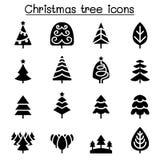 Christmas tree icons. Vector illustration graphic design Stock Photo