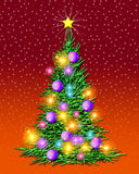 Christmas Tree - Illuminated Royalty Free Stock Images