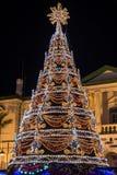 Christmas Tree Illuminated Royalty Free Stock Photo