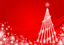 Christmas tree Illuminated,red - EPS10 Royalty Free Stock Photography