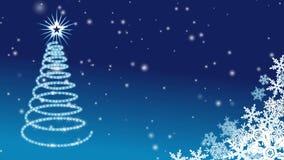 Christmas tree Illumination - Blue stock footage
