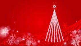 Christmas tree Illumination - Red stock footage