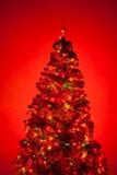 Christmas tree with illumination Stock Photography