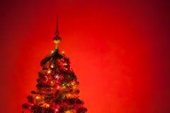 Christmas tree with illumination Stock Image