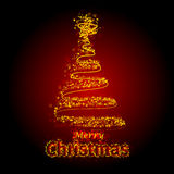 Christmas Tree. Illustrated Christmas tree drawn out with stars Royalty Free Stock Images