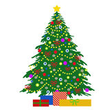 Christmas tree illustration Stock Images