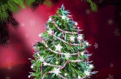 Christmas tree illustration Royalty Free Stock Photo