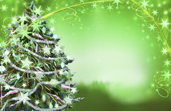 Christmas tree illustration Stock Image