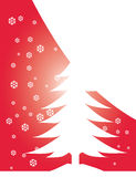 Christmas tree illustration. Christmas tree card with snow Royalty Free Stock Photos